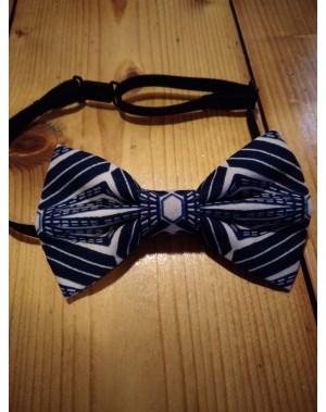 Afro motýlek - modrý diamant